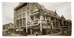 The Monterey Hotel 1904 The Goldstine Block Building 1906 Photo  Hand Towel