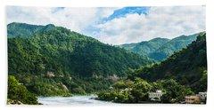 The Mountain Valley Of Rishikesh Bath Towel