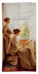 The Music Lesson, C.1890 Hand Towel by American School