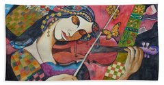 The Music Of Her Mind Hand Towel