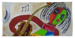 The Music Practitioner Hand Towel by Sharyn Winters