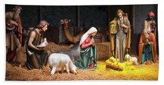 The Nativity Scene At The Grotto Bath Towel