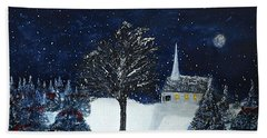 The Night Before Christmas Hand Towel by Dick Bourgault