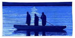 The Night Fishermen Hand Towel