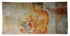 The Ode For The Women Beauty I. Sigiriyan Lady With Flowers. Sigiriya. Sri Lanka Hand Towel