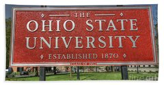 The Ohio State University Bath Towel by David Bearden