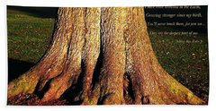 The Old English Oak Tree Bath Towel