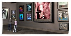 Bath Towel featuring the digital art The Old Museum by John Alexander