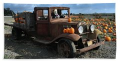 Hand Towel featuring the photograph The Old Pumpkin Patch by Michael Gordon