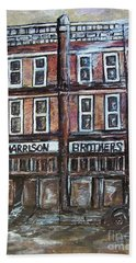 Hand Towel featuring the painting The Old Store by Eloise Schneider