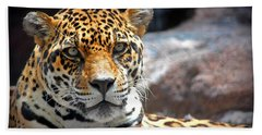 The Ole Leopard Don't Change His Spots Bath Towel by Lynn Sprowl