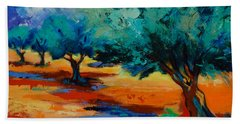 The Olive Trees Dance Hand Towel