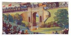 The Opening Of The Stockton And Darlington Railway Macmillan Poster Bath Towel