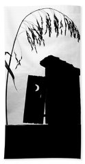 The Outhouse Bath Towel by Mary Lee Dereske
