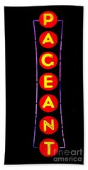 The Pageant In Neon Hand Towel by Kelly Awad