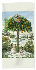 The Partridge In A Pear Tree Hand Towel