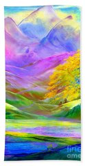 Misty Mountains, Fall Color And Aspens Hand Towel