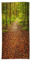 The Path Hand Towel by Maciej Markiewicz