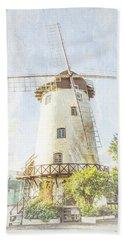 The Penny Royal Windmill Bath Towel by Elaine Teague
