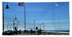 Hand Towel featuring the photograph The Pier by Michael Gordon