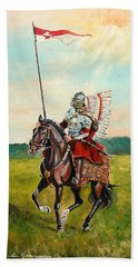 The Polish Winged Hussar Bath Towel