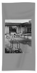 The Pool And Pavilion Of A House Hand Towel