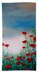 The Poppy Field Bath Towel