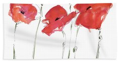 The Poppy Ladies Bath Towel by Kathleen McElwaine