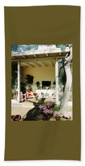 The Porch Of Mr. And Mrs. George L. Elkins Bath Towel