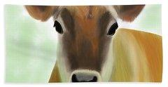 The Pretty Jersey Cow  Bath Towel