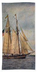 Bath Towel featuring the digital art The Pride Of Baltimore II by Dale Kincaid