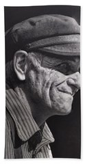 Hand Towel featuring the photograph The Railwayman by Wallaroo Images