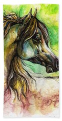 The Rainbow Colored Arabian Horse Bath Towel