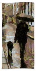 The Rainy Walk Bath Towel
