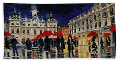 The Rendezvous Of Terreaux Square In Lyon Hand Towel