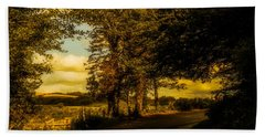 Hand Towel featuring the photograph The Road To Litlington by Chris Lord
