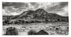 Bath Towel featuring the photograph The Road To Zion In Black And White by Tammy Wetzel
