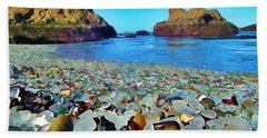 Glass Beach In Cali Bath Towel