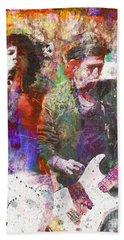 Rock N Roll The Rolling Stones Bath Towels