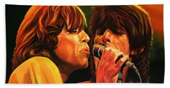 The Rolling Stones Hand Towel by Paul Meijering
