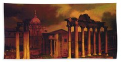 The Roman Forum Hand Towel by Blue Sky