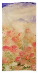 Bath Towel featuring the painting The Rose Bush by Laurie L