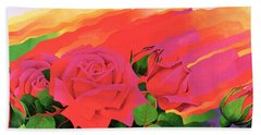The Rose In The Festival Of Light Hand Towel