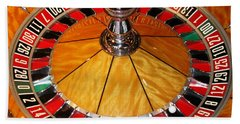 The Roulette Wheel Bath Towel by Tom Conway