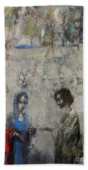 The Samaritan Woman At The Well Hand Towel