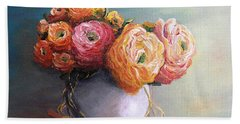Bath Towel featuring the painting The Scent Of Flowers by Vesna Martinjak