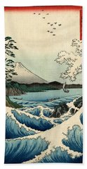 The Sea At Satta In Suruga Province Hand Towel