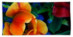 The Secret Life Of Tulips Bath Towel by Rory Sagner