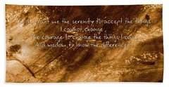 The Serenity Prayer 1 Hand Towel by Andrea Anderegg