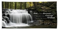 The Serenity Prayer Hand Towel by Christina Rollo